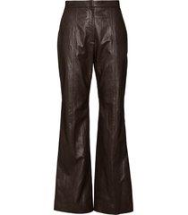 lvir high-waisted bootcut trousers - brown