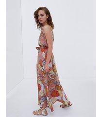 vestito lungo stampa floreale