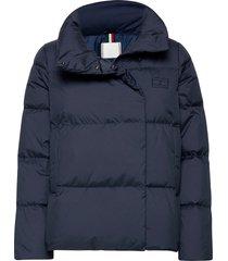 redown wrap jacket fodrad jacka blå tommy hilfiger