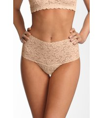 women's hanky panky retro high waist thong, size one size - beige