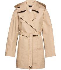 cotelin coat trenchcoat lange jas beige andiata