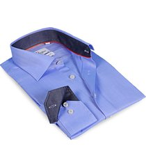 levinas men's finollo contemporary-fit dress shirt - blue - size 19