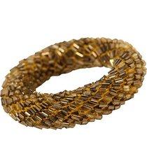porta-guardanapo artesanal de vidrilhos decorativo ring gold