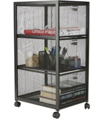 mind reader 3-tiered drawers cart, office cart, utility cart