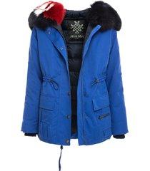 parachute jacket with fur