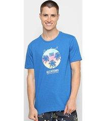 camiseta aleatory tropical manga curta masculina