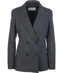 arad jacket in grey flannel wool and cashmere
