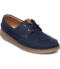 oakland sun båtskor skor blå clarks