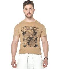camiseta osmoze 08 s/ ribana lavada 110112776 marrom