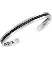 effy black spinel cuff bracelet in sterling silver