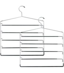 honey can do 2-pc. 5-tier swinging arm pant rack