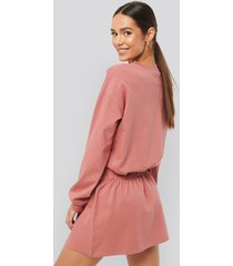 na-kd jersey skirt dress - pink