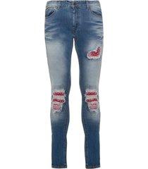 family first milano jeans denim patch bandana blue