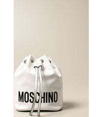 moschino couture crossbody bags moschino couture bucket bag in leather with logo