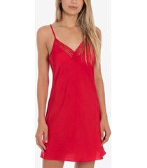 linea donatella lace-trim chemise nightgown