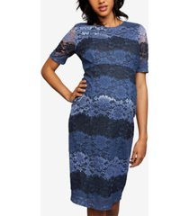 a pea in the pod maternity lace colorblocked dress