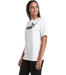 boyfriend logo t-shirt voor dames, wit/aucun, maat xs | puma