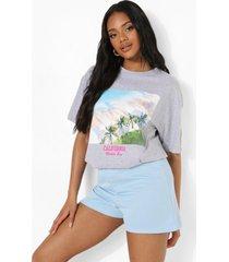 petite california palmboom t-shirt, lilac