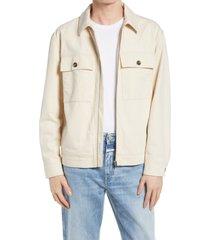 men's closed men's zip-up utility jacket, size xx-large - ivory