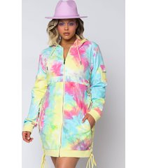 akira plus got all the flavas lace up detail hoodie dress