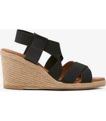 sandalett espadrilles med kilklack