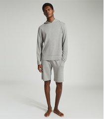 reiss murphy - jersey hoodie in grey, mens, size xxl