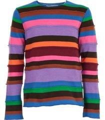 comme des garçons shirt sweater l/s crew neck w/stripes