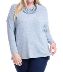 fever plus size cowlneck hooded sweatshirt