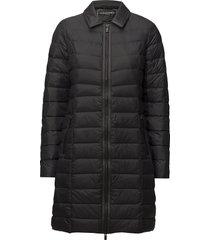light down coat gevoerde lange jas zwart ilse jacobsen