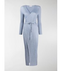 antonella rizza tied-waist wrap dress