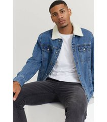 jeansjacka sherpa denim jacket