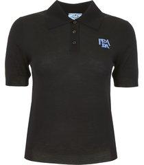 prada wool polo shirt with logo