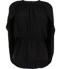 altuzarra cape-detail blouse - black