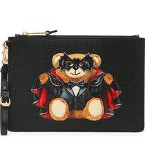 moschino bat teddy bear pouch