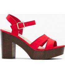 sandali con tacco (rosso) - rainbow