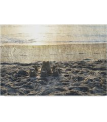 "sharon chandler sand castle iii canvas art - 15"" x 20"""