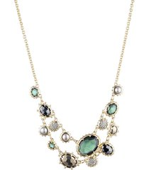 alexis bittar women's georgian 10k yellow goldplated & multi-stone double strand necklace