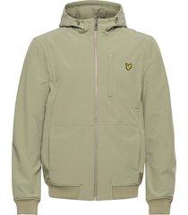 softshell jacket tunn jacka grön lyle & scott
