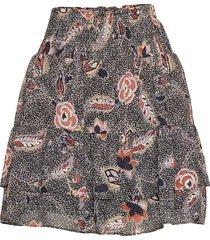 geo skirt kort kjol svart second female