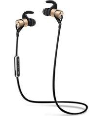 audífonos bluetooth, d9 deportes inalámbrico audifonos bluetooth manos libres  auricular anti-sudor auriculares de metal earbuds auriculares con micrófono en la oreja para iphone smartphones (oro)
