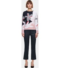 sweter abstract flower