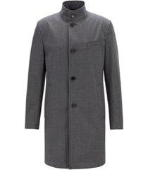 boss men's slim fit stand-collar coat