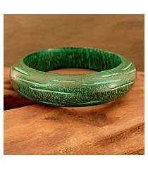 wood bangle bracelet, 'empress' (india)