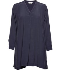 glenva tunic blouse lange mouwen blauw masai