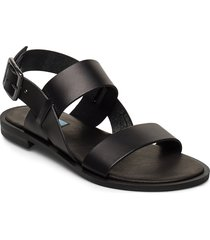 2 string simple round shoes summer shoes flat sandals svart apair