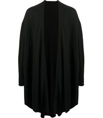 julius draped coat - black