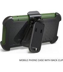 heavy duty funda rígida armadura protectora de silicona para iphone fu