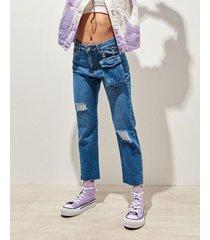 jean azul 47 street straight pocket