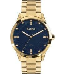 relógio euro glitter fever eu feminino