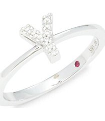 18k white gold, diamond & ruby ring